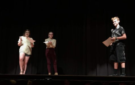 Students perform at auditions