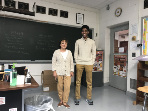 Student and teacher find they've dressed alike