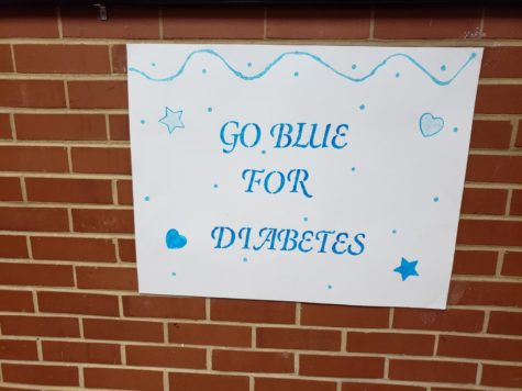 Wear blue to support Type I Diabetes awareness