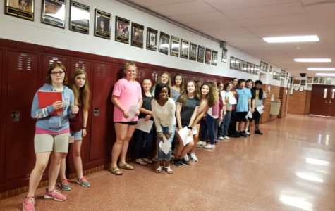Upcoming freshmen for the 2019-2020 school year tour GHS