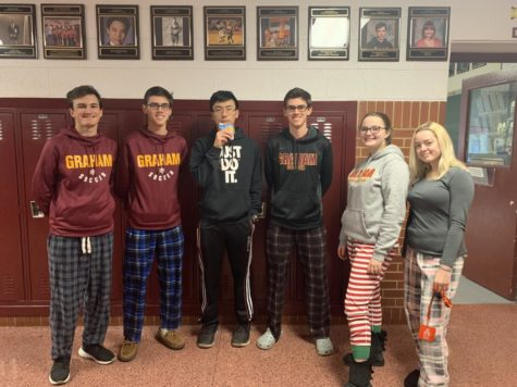 Pajama day rewarded to students for good attendance.