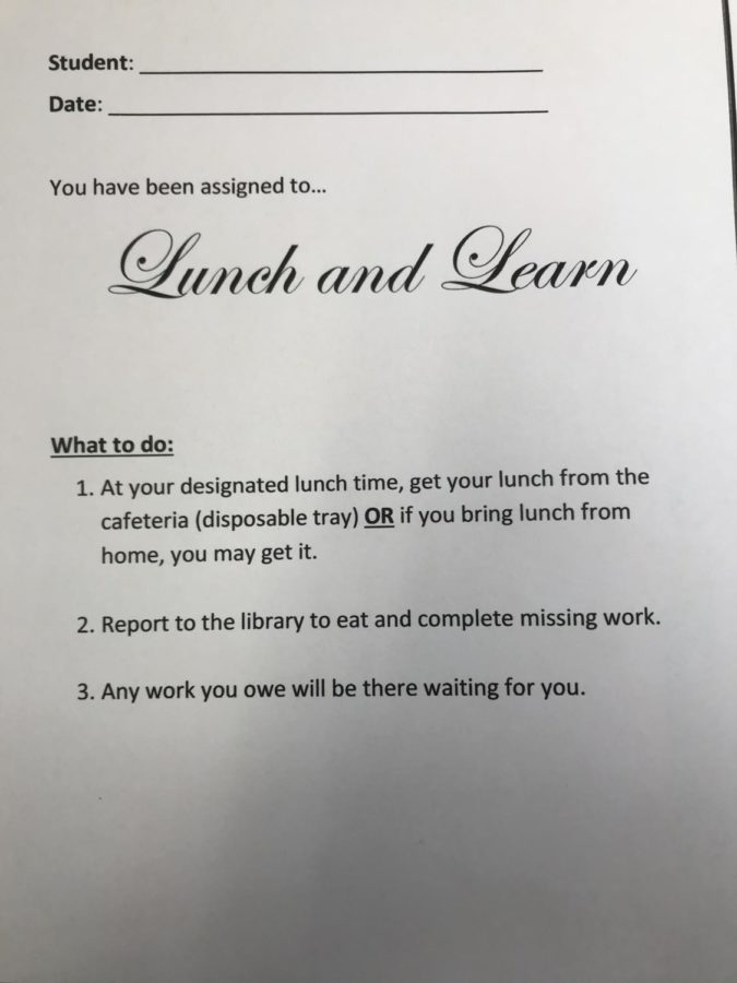 New Lunch and Learn program brings fine dining and schoolwork together
