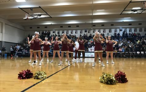Basketball cheer takes center court at games