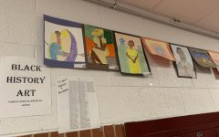 Mrs. Cockerham has students draw for Black History Month